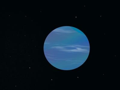 Blue Giant - Space Illustration stars planet art apple pencil ipad pro procreate illustration space