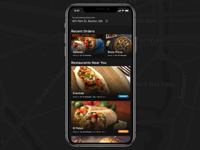 Food Ordering App ui ux cards delivery mobile app mobile ordering food ordering food