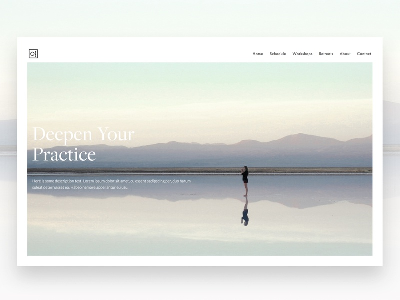 Serenity Yoga wordpress squarespace website design website