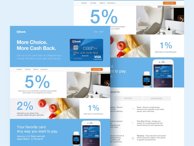 US Bank Landing Page landing  page ui  ux design web designer website bank design website design ui designer