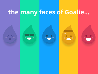 The Many Faces of Goalie! branding graphic design illustration ui design ui