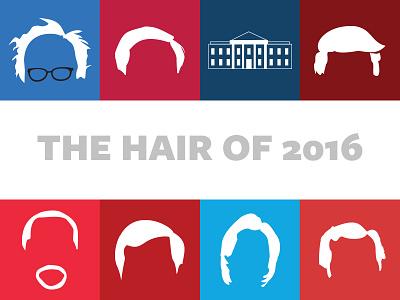 Presidential Hair  hair minimal flat design rubio cruz trump sanders carson clinton candidates presidential race