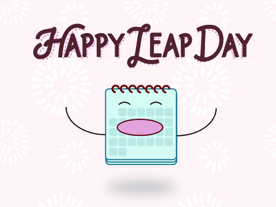 Happy Leap Day fun february 29 holiday calendar illustration leap day