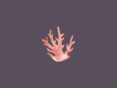 Coralie Design Co—Logo Mark illustration orange pink corals flat design watercolor purple logo mark logo coaralie coral