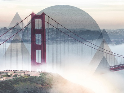 San Francisco Vibes mixed media inspiration angles travel mood san francisco abstract circle triangle geometric