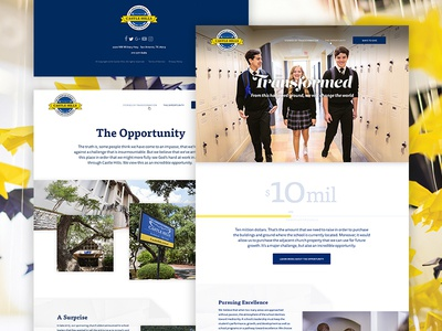 Fundraising Website–Castle Hills ux website web design ui simple school minimal marketing fundraising clean