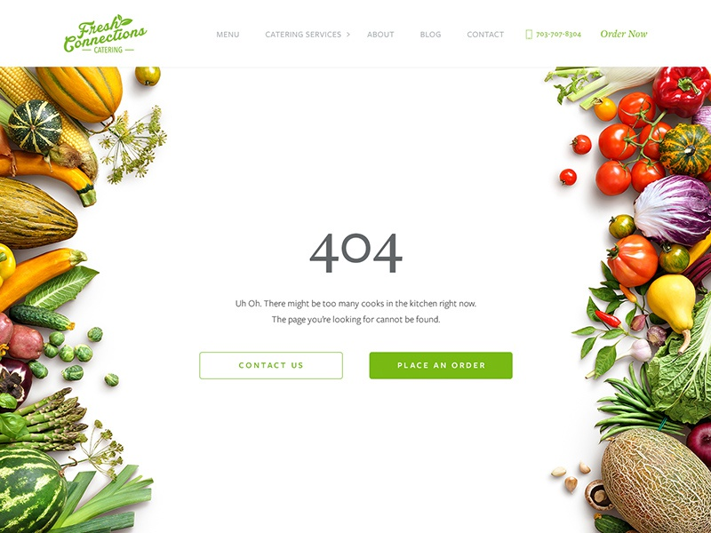 404 Page Design branding ui clean white restaurant catering minimal web design website 404 page 404