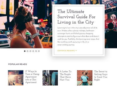 Her Track Website Overhaul web web design layout blogging clean ux ui feature image blog design blog