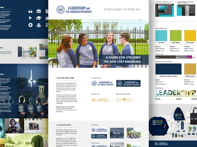 LTAP Style Guidelines & UI Kit branding style guide identity guide identity college internship washington dc brand guidelines brand ui ui kit