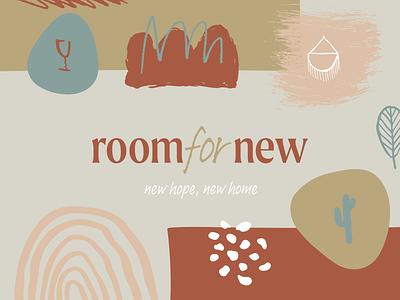 Room for New brand identity interior design logo handmade authenticity home house logotype wordmark interior