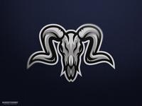 Ram Skull Mascot Logo