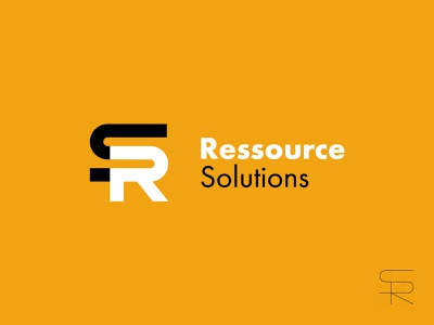 Ressource Solutions Logo Design r s logo s logo r logo bold lines bold thick lines thick typo logo type logo lettermark type vector typography design branding design branding logodesign logo design logo