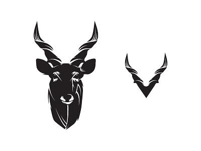 Kudu - Responsive Logo Idea responsivelogodesign responsivelogo responsive kudulogo animaldesign animallogodesign wildlife game kudu logodesign logo