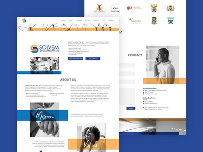 Solvem Consulting Home Page ui website home page landing page web design web