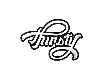 Thirsty Pops Logo Design typography design typography design logo design logo