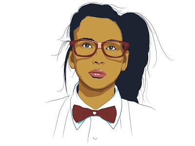 Nerdy Love love portrait illustration portrait nerdy nerd illustration