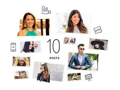 Revfluence: Plan for 10 Posts Visual typography icons influencers