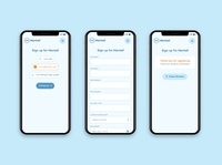 Mentell –Mobile Sign Up