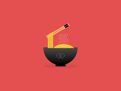 Noodles illustration (Back in the game shot) ui vector sketch branding illustration logo graphic design icon design