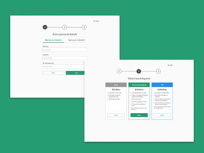 Bass acadamy onboarding page tweaks ui design challenge login screens product design visual design interaction design onboarding designs