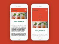 Juiced up mobile menu hamburger animation