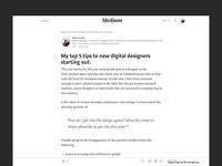Top 5 to new digital designers medium article