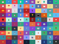 All 100 days of icons