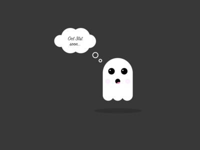 Halloween puppet ghost