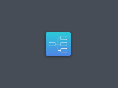 Userflow App Icon in Blue user journey interaction design userfow blue gradient icons icons design ui design whimsical