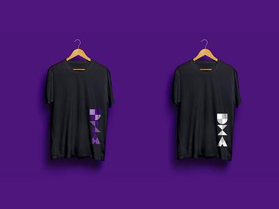 UX Auckland Meetup T shirts meetups block letter visual design white purple mockups logo design t shirt
