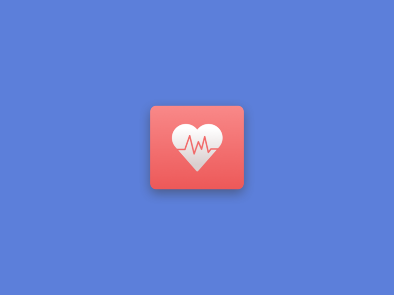 Health app icon health app icon heart graphic design flat blue ui design icon design
