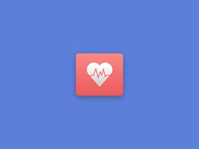 Health app icon health app icon heart graphic design flat blue ui design icon design