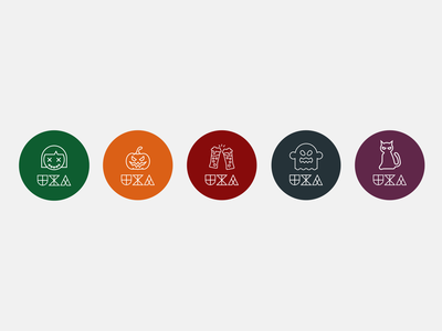 UX Auckland Halloween Stickers flatdesign noun project stickers graphic design ui design logo ui design icon design