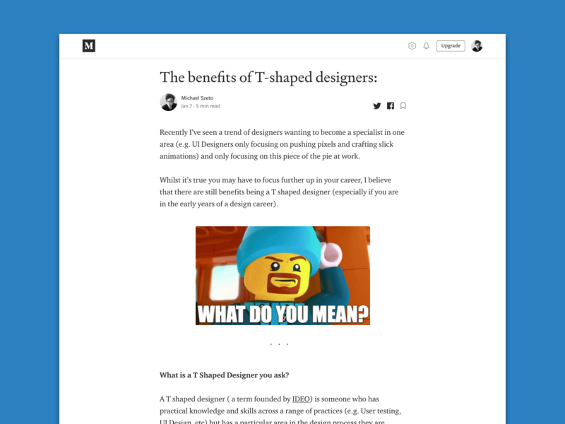 T-shaped designers article flat blue gifs uidesign product design career development ux design writing