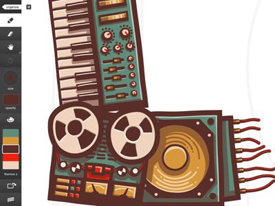 LO logo/illustration adobe ideas ipad illustration vector