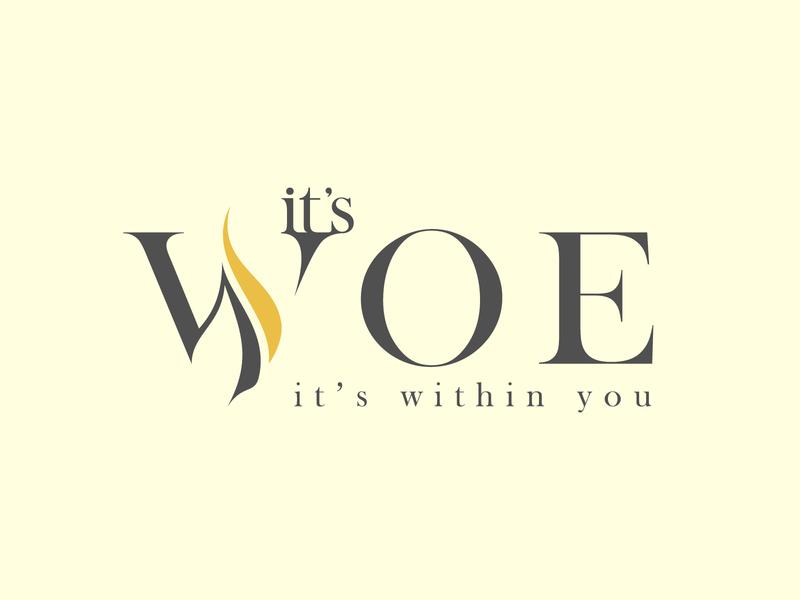 It's Woe Logo bold letters illustration vector type design typography logo branding lettering