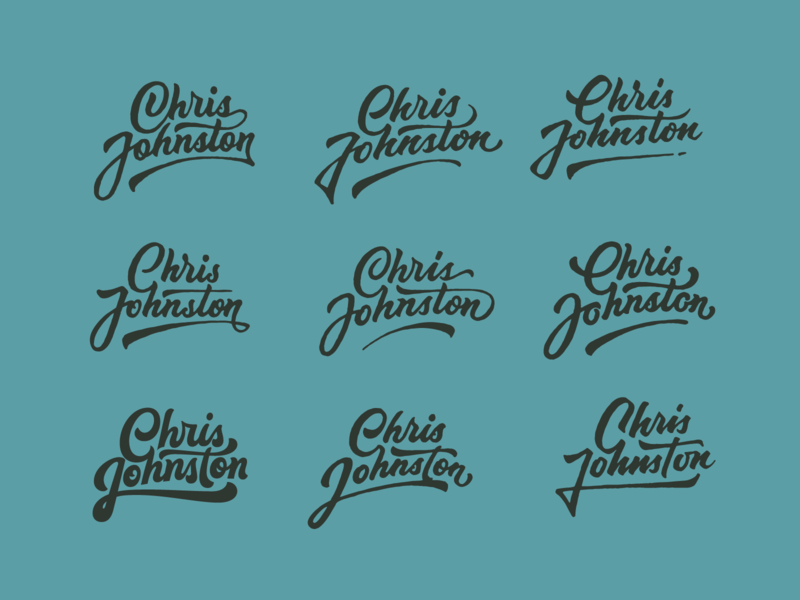 DJ Chris concept logodesign badges letters illustration type design typography logo branding lettering