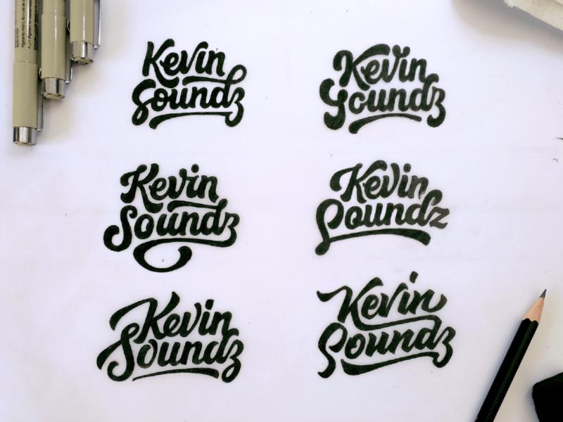 Kevin Soundz typography logo concept brand badges logodesign letters design type logo typography branding lettering