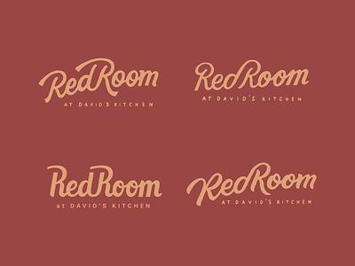 Red Room logo Concepts badges logodesign vector letters illustration design typography logo branding lettering
