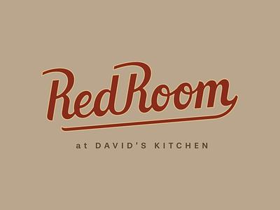 Red Room illustration type design typography logo branding lettering