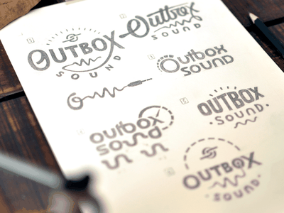 Outbox Sound logo concepts logodesign brand badges illustration design type typography logo branding lettering