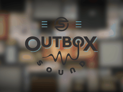 Outbox Sound Logo bold brand logo logodesign vector illustration type typography branding lettering