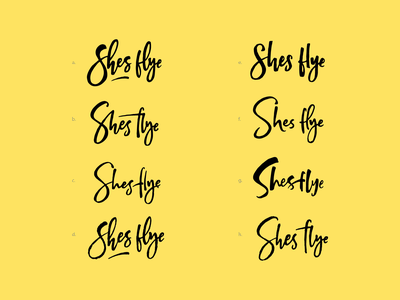 Shes fly logo concepts logodesign logo brand type design illustration letters branding typography lettering
