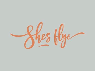 Shes fly design badges logodesign brand branding logo letters type typography lettering