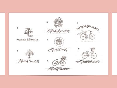 Logo Concept for Alfred & Charlott illustration badges logodesign letters design type logo branding typography lettering