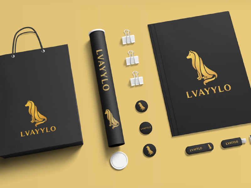 LVAYYLO Logo strong bold brand logo patch badges branding logodesign wolf illustration typography
