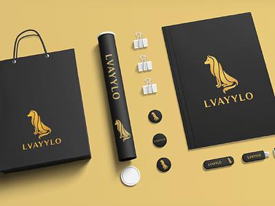 LVAYYLO Logo strong bold brand logo patch badges branding logodesign wolf illustration typography