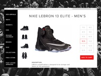 Foot Locker Product Page (redesign)