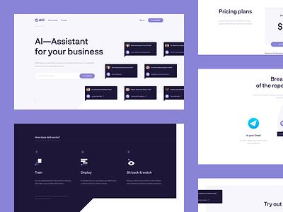 Akili — AI Assistant Website landing page website branding logo identity typography flat brand clean design