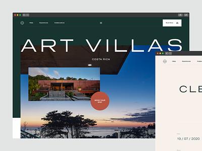 Artvillas — Resort Website web landing page website layout logo flat identity typography design clean